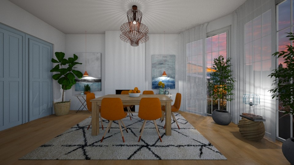 blue n orange - Modern - Dining room - by MiaM