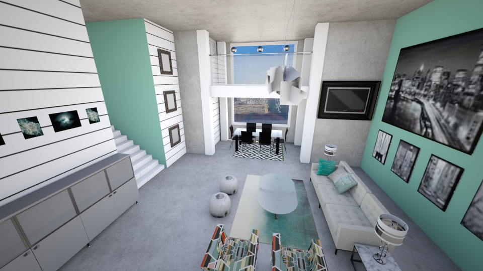 Concrete Jungle - Living room - by Addie Smooches