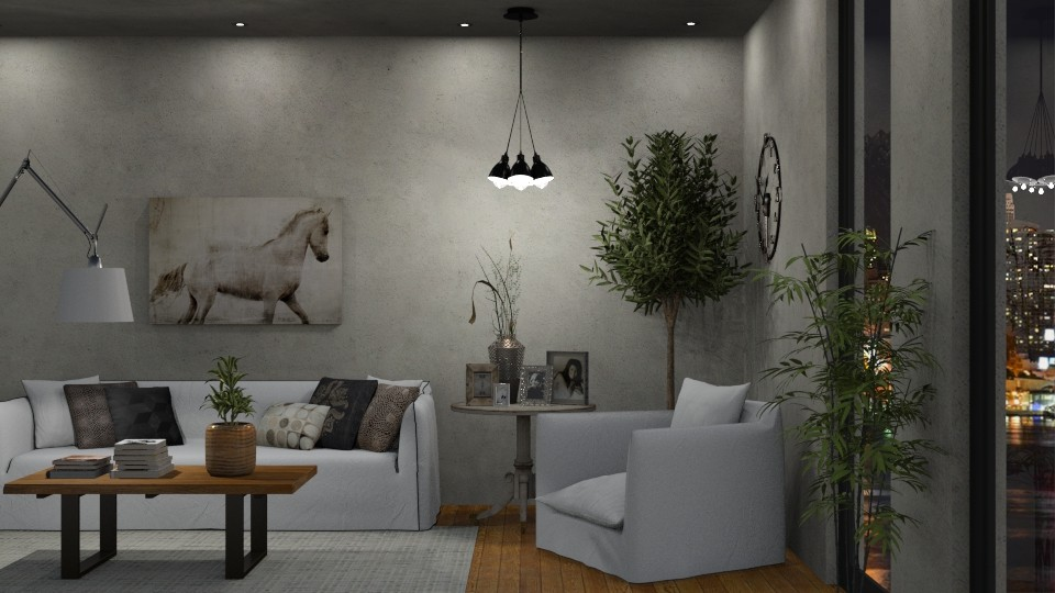 Concrete Room - Living room - by GraceKathryn