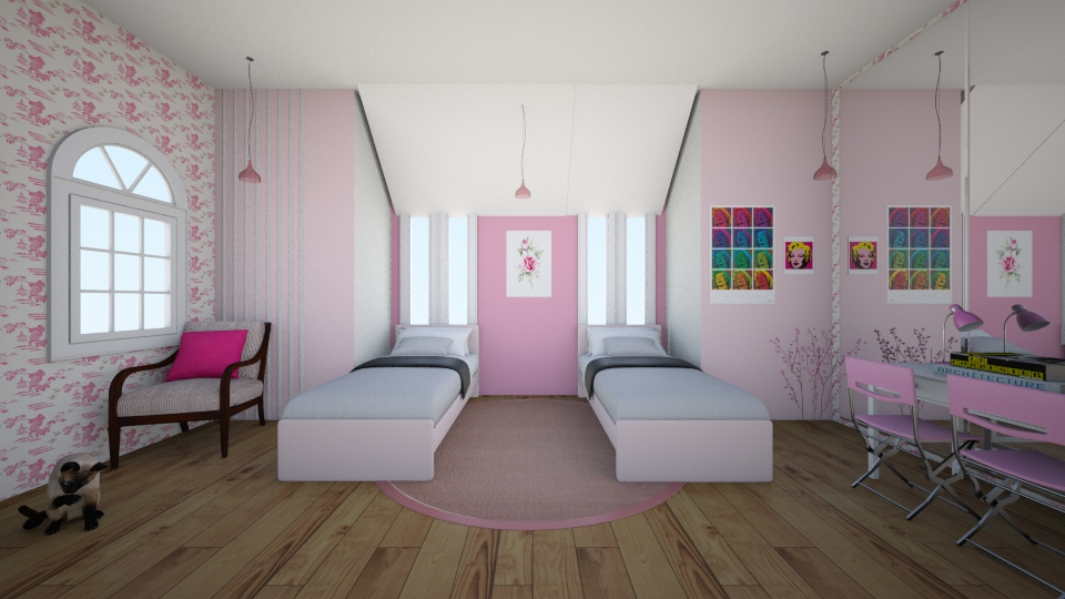 Pink Double Bedroom - Bedroom - by Sunny Bunny