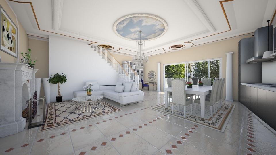 neoclassical house - Living room - by eleonoraxruc