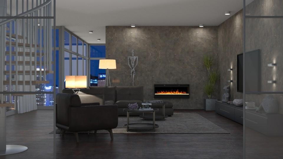 Penthouse - Living room - by GraceKathryn
