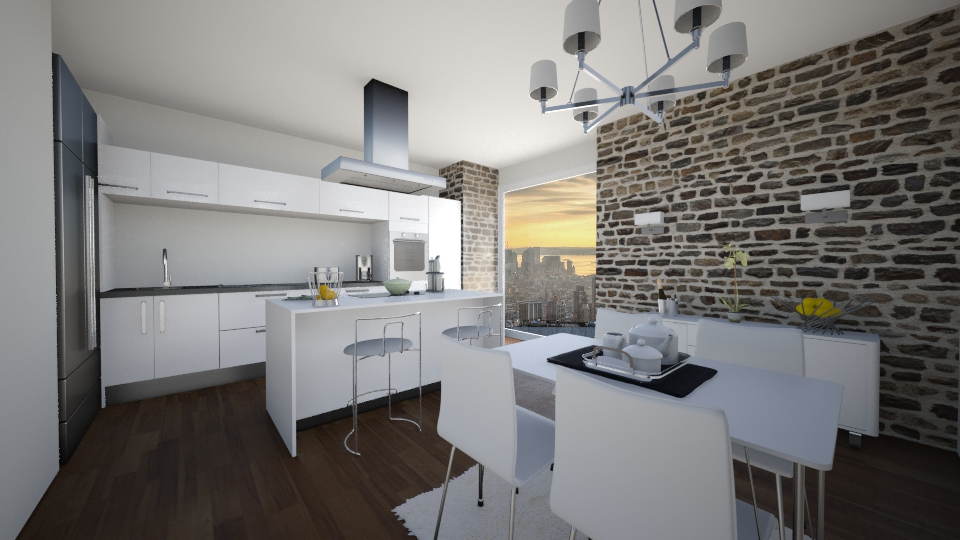 Modern white  - Modern - Kitchen - by GoliaNova