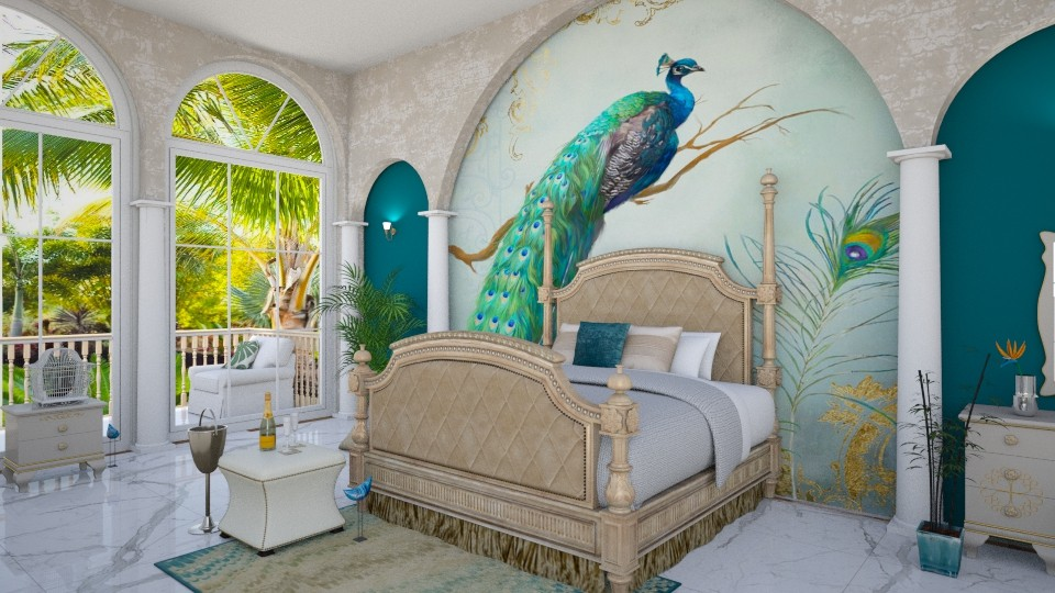 Peacock - Bedroom - by ArtHousedeco
