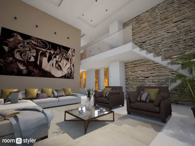 Villa LIving Room - Living room - by MilaMao