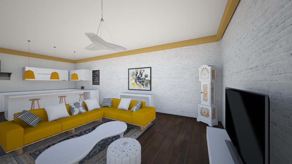 yellow  - Living room - by annakost