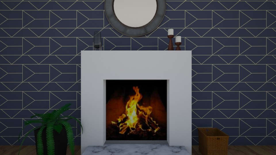 fireplace decor - by Jessica Evelyn