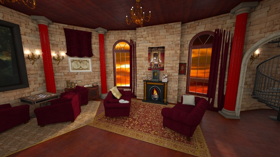 Gryffindor Common Room - by Valerie Meiner