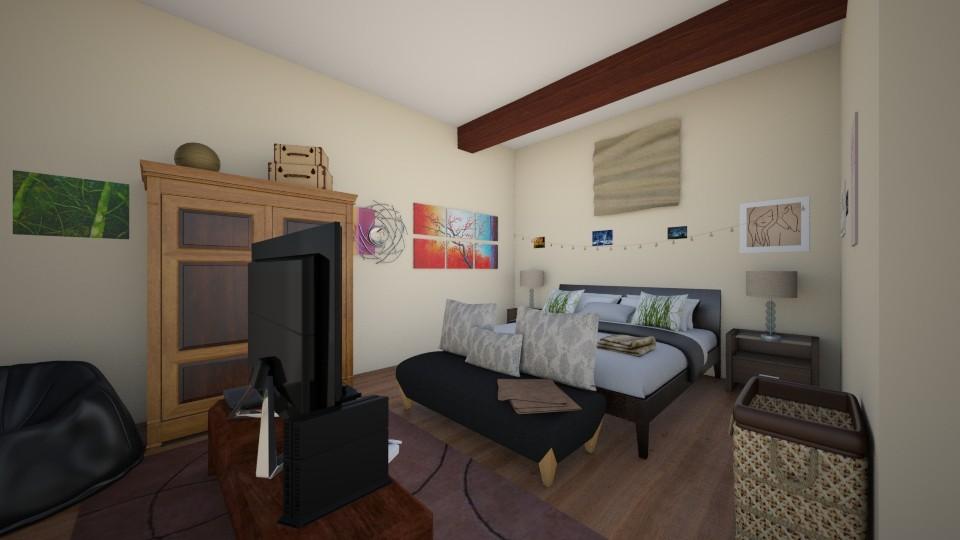 Casual brown bedroom - Bedroom - by Storm Bringer16