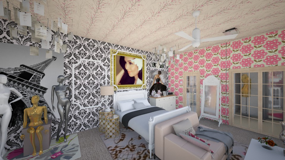 Pink Room Plan B - Bedroom - by chanelskii