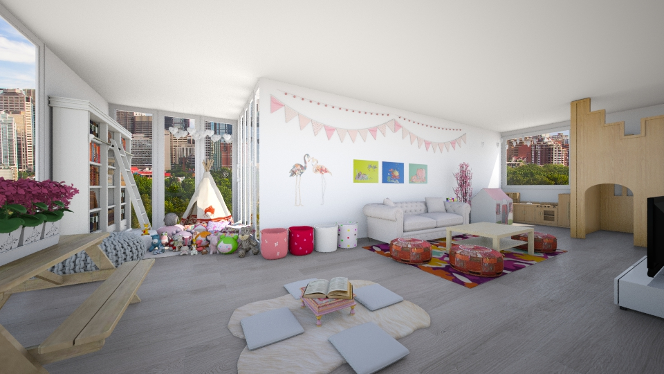 playful - Living room - by Kylie Gallant