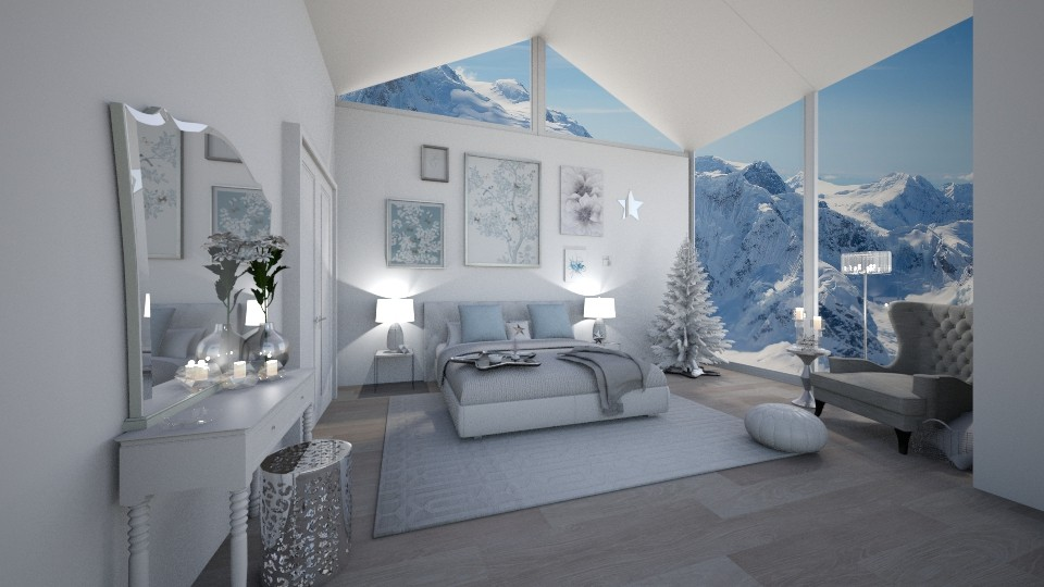bright white - Modern - Bedroom - by Georgina Holly