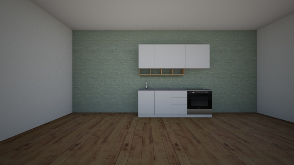 modern kitchen unfinished - by jannahoman