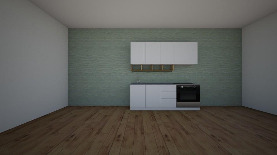 modern kitchen unfinished - by jannahoman