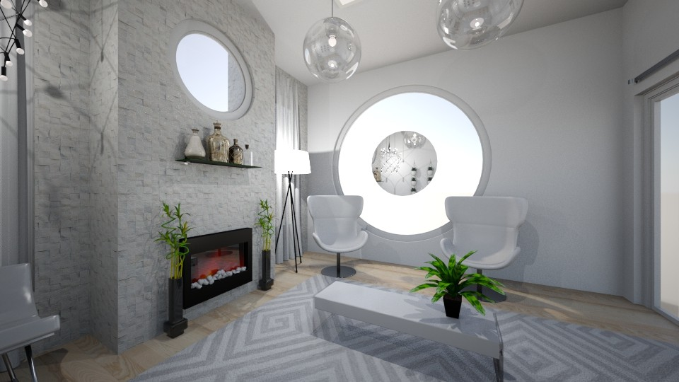 White Wonder - Modern - Living room - by XiraFizade