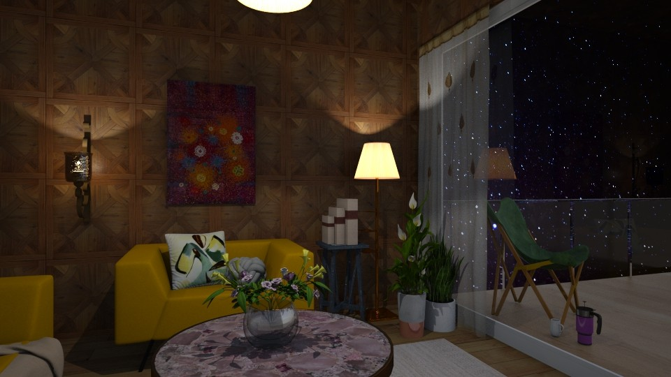Yellow it is - Living room - by Vanessa_D