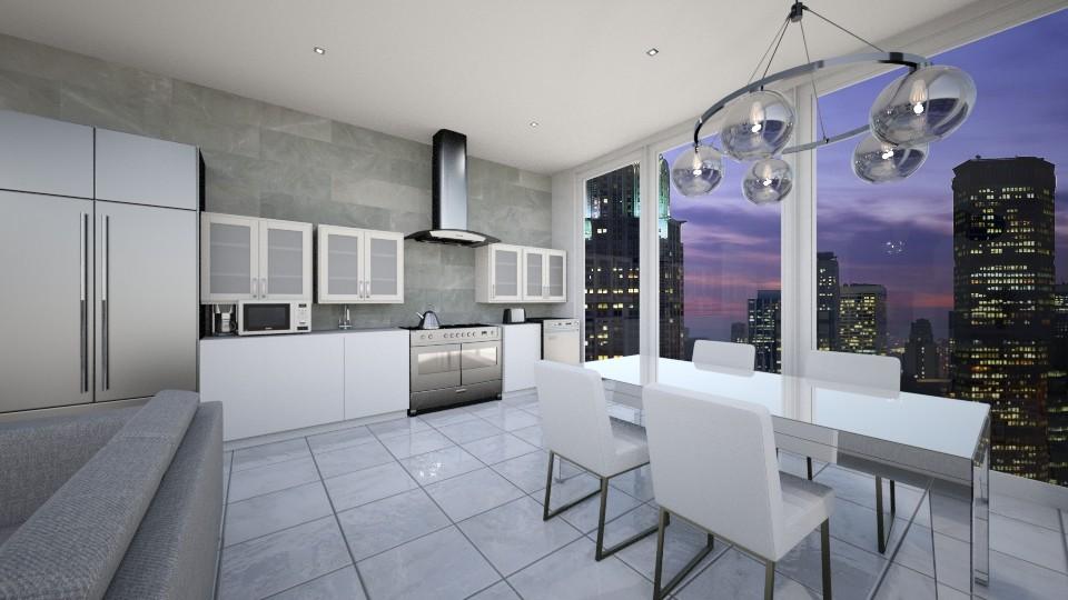 High rise kitchen - Modern - Kitchen - by UloveTashi Designs