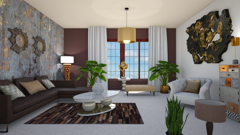 Woody Gold 2 - Living room - by KarmaKitten