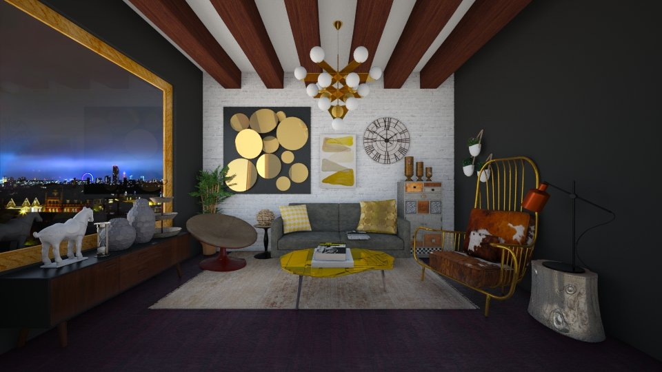 GOLD  - Modern - Living room - by Karim Mahfouz