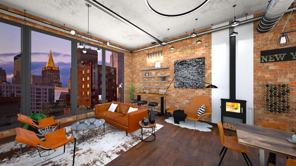 NYC - Rustic - Living room - by annator