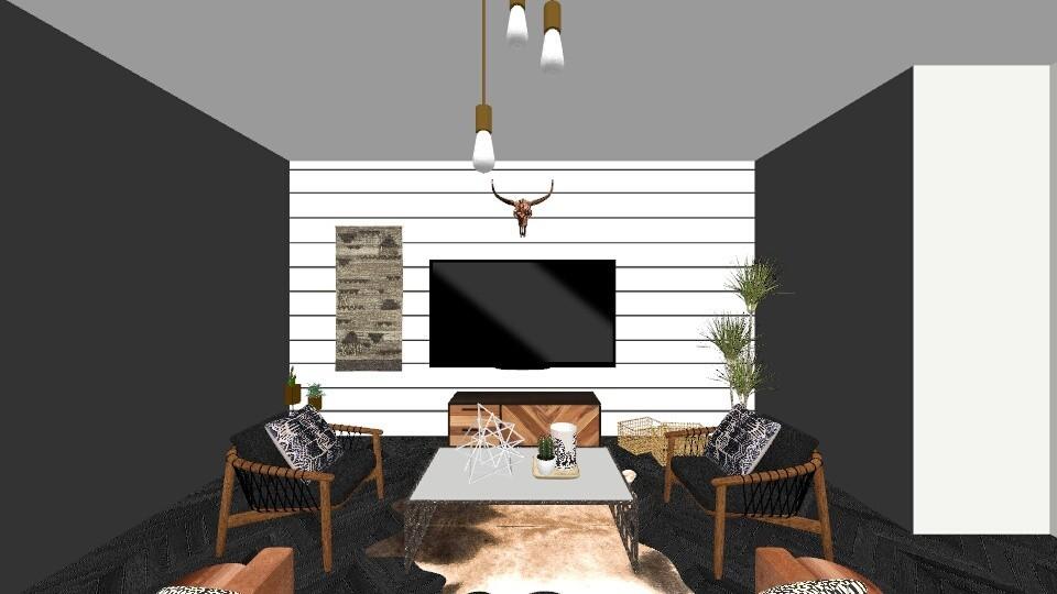 manly living room - Living room - by chloe margraves