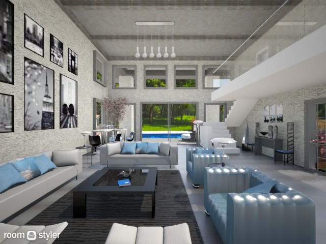 modern home - Living room - by Linda Koen_326