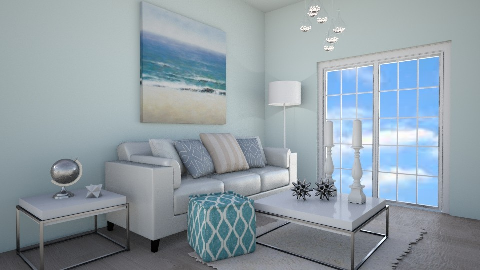 White - Minimal - Living room - by kristina_bina