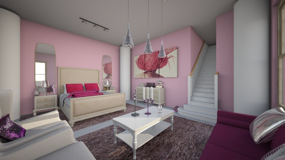 quarto no sotao - Glamour - Bedroom - by kelly lucena