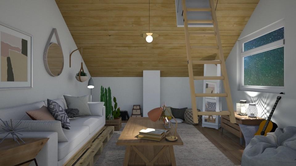 Attic Life - Bedroom - by cutebaxter123