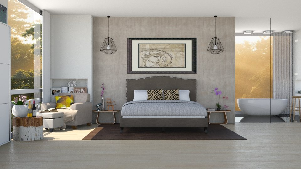 One Modern Bedroom - Modern - Bedroom - by ayu DR