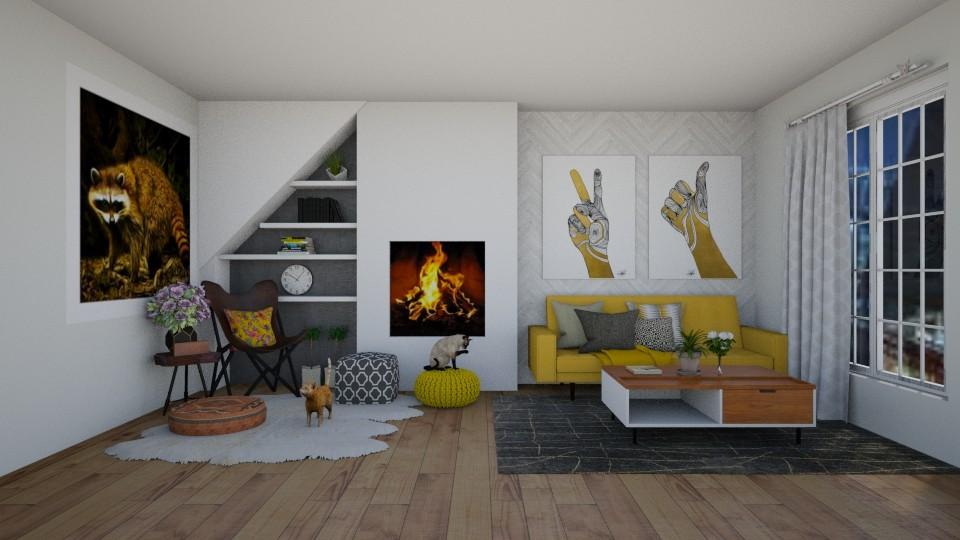 Mustard life - Living room - by thomanjenna