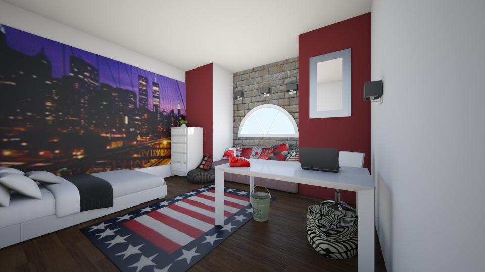 america - Bedroom - by trAnsu