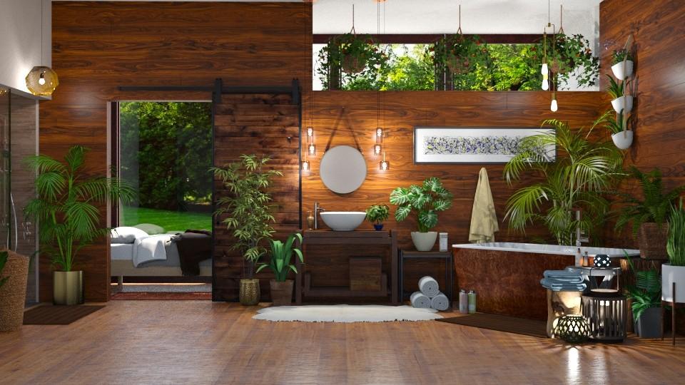 Urban Jungle Bath - Bathroom - by  krc60