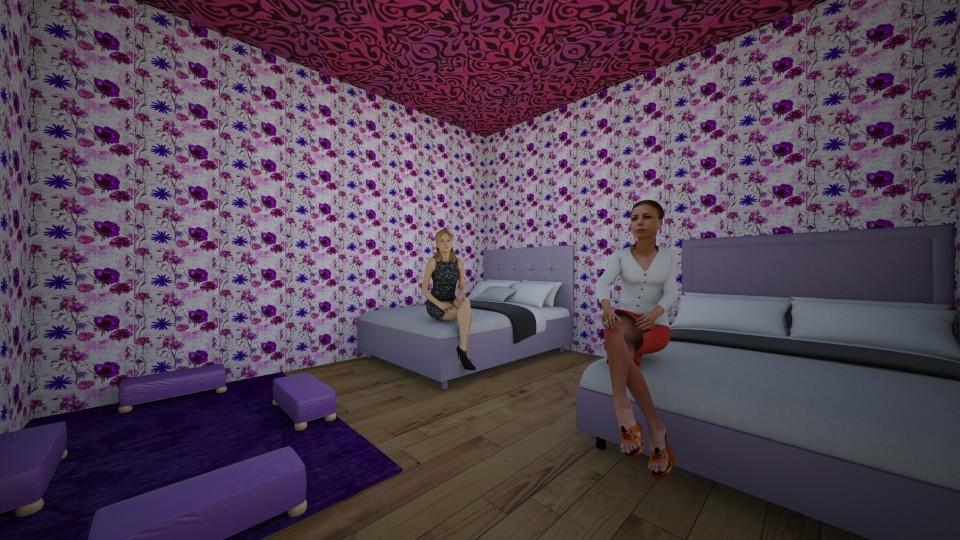 Purple room - by Cerise Hendrickson