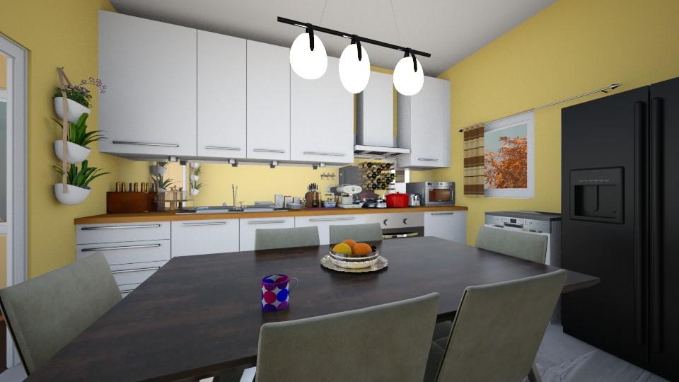 Small but still effective - Kitchen - by ijustlikemakingfloorplans