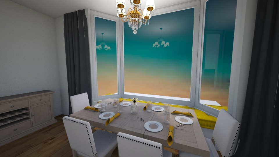 Yellow hint dining room - by zwsclb
