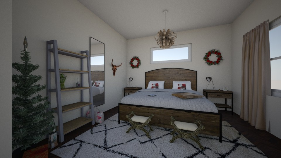 western Christmas bedroom - by bellavanderwal