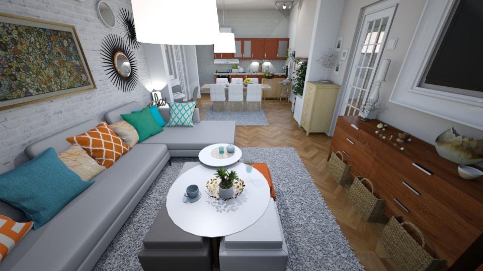 living dinning kitchen - Modern - Living room - by Smiljka Kostic