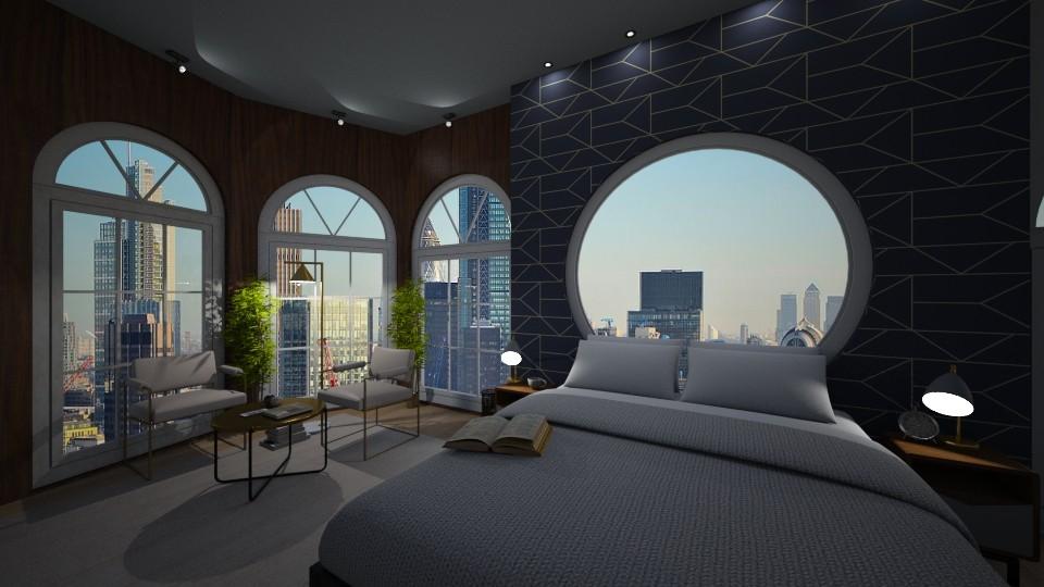 London SIngle Man Room  - Bedroom - by zabarra