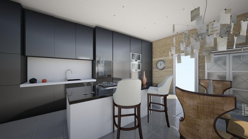 Apartment kitchen - Kitchen - by purplepantha