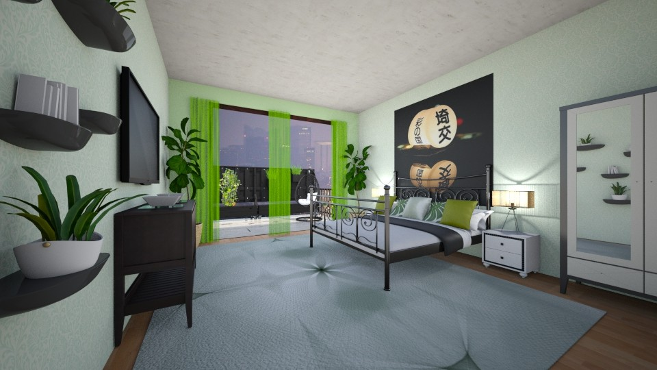 green with envy - Bedroom - by allday08