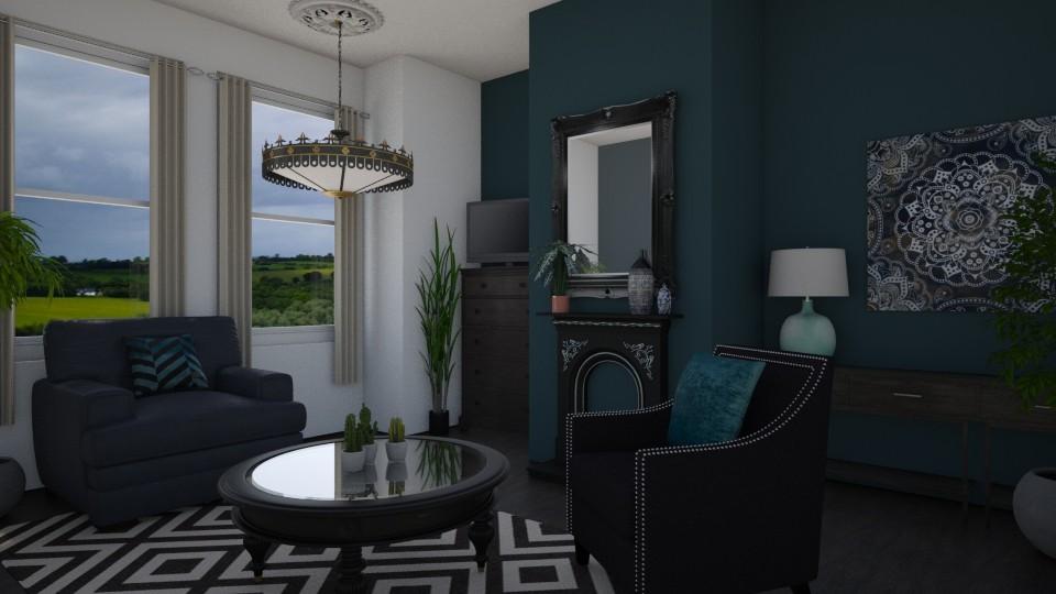 dark - Living room - by graciebellexxx