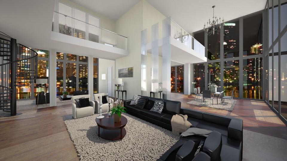 Miami Penthouse - Glamour - Living room - by RedVelvet21