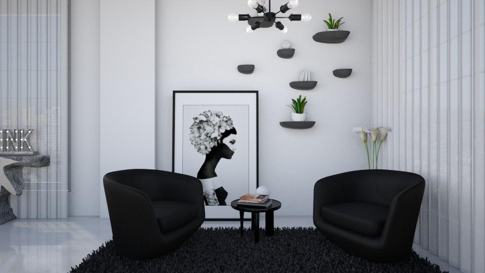TUDOR - Masculine - Living room - by Rose Hdz