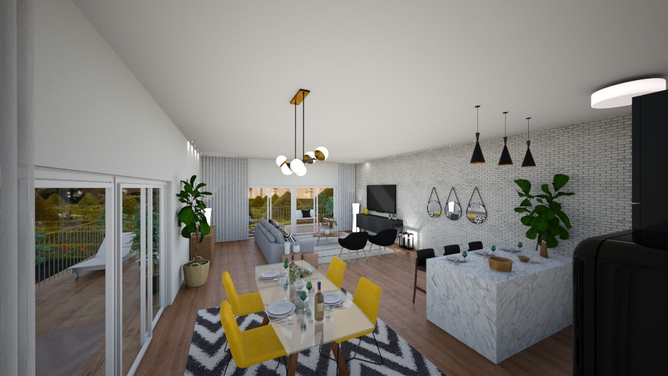 Living open space - Modern - Living room - by Cristiane Lichotto