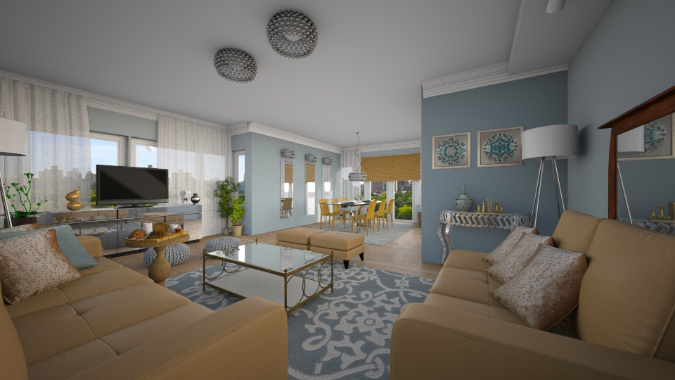 Ground Floor BLUE - Living room - by sanja1209