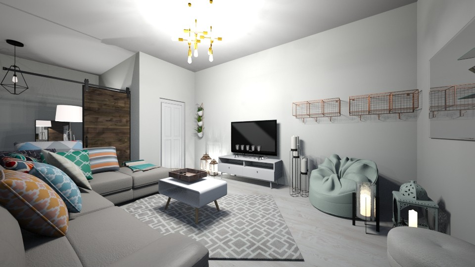 dream apartment LIVING RO - Living room - by carmenouloulou