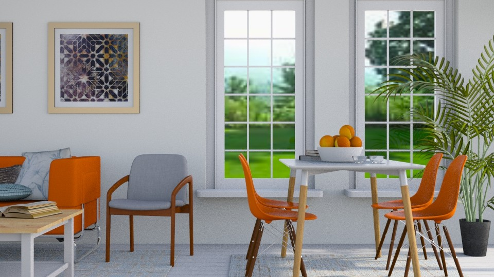 Orange Blue - Modern - Dining room - by stephendesign