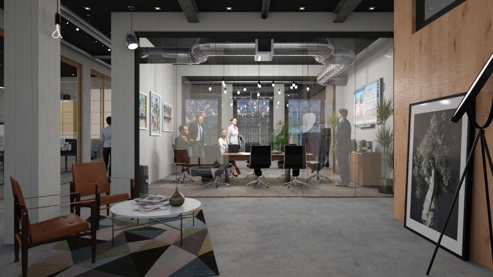 Modern Tech Office - by DeborahArmelin