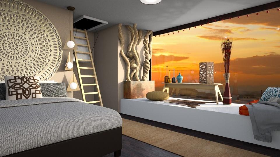 Bohemian Bedroom - Bedroom - by Bekah Lynn